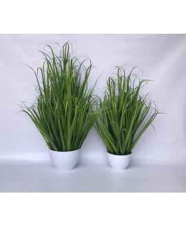 Sztuczna trawa w białej doniczce 97 cm