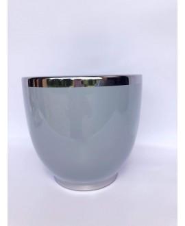 Doniczka szaro-srebrna 15 cm