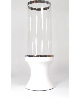 LAMPION W KOLORZE BIAŁO SREBRNY