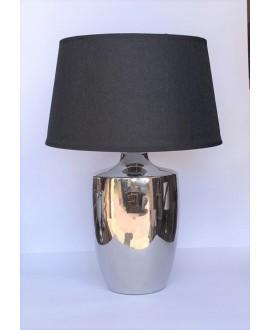 LAMPA SILVER Z CZARNYM ABAŻUREM 37 CM