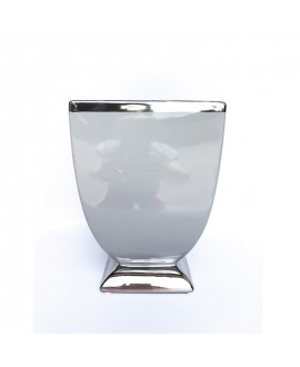 Doniczka szaro-srebrna 20 cm