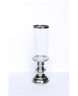 ŚWIECZNIK LAMPION SREBRNY