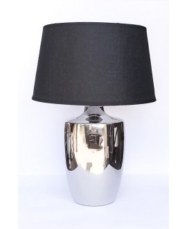 LAMPA SILVER Z CZARNYM ABAŻUREM 45 CM