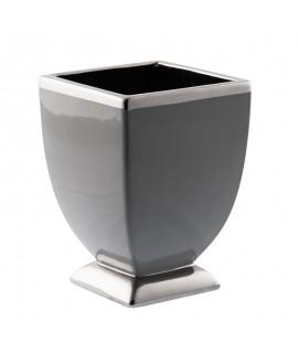 Doniczka szaro-srebrna 25 cm